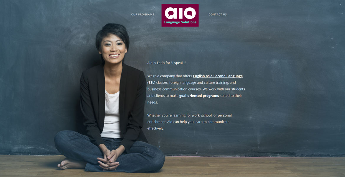 Aio Language Solutions Website